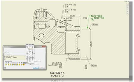 Rzut modelu Inventor LT