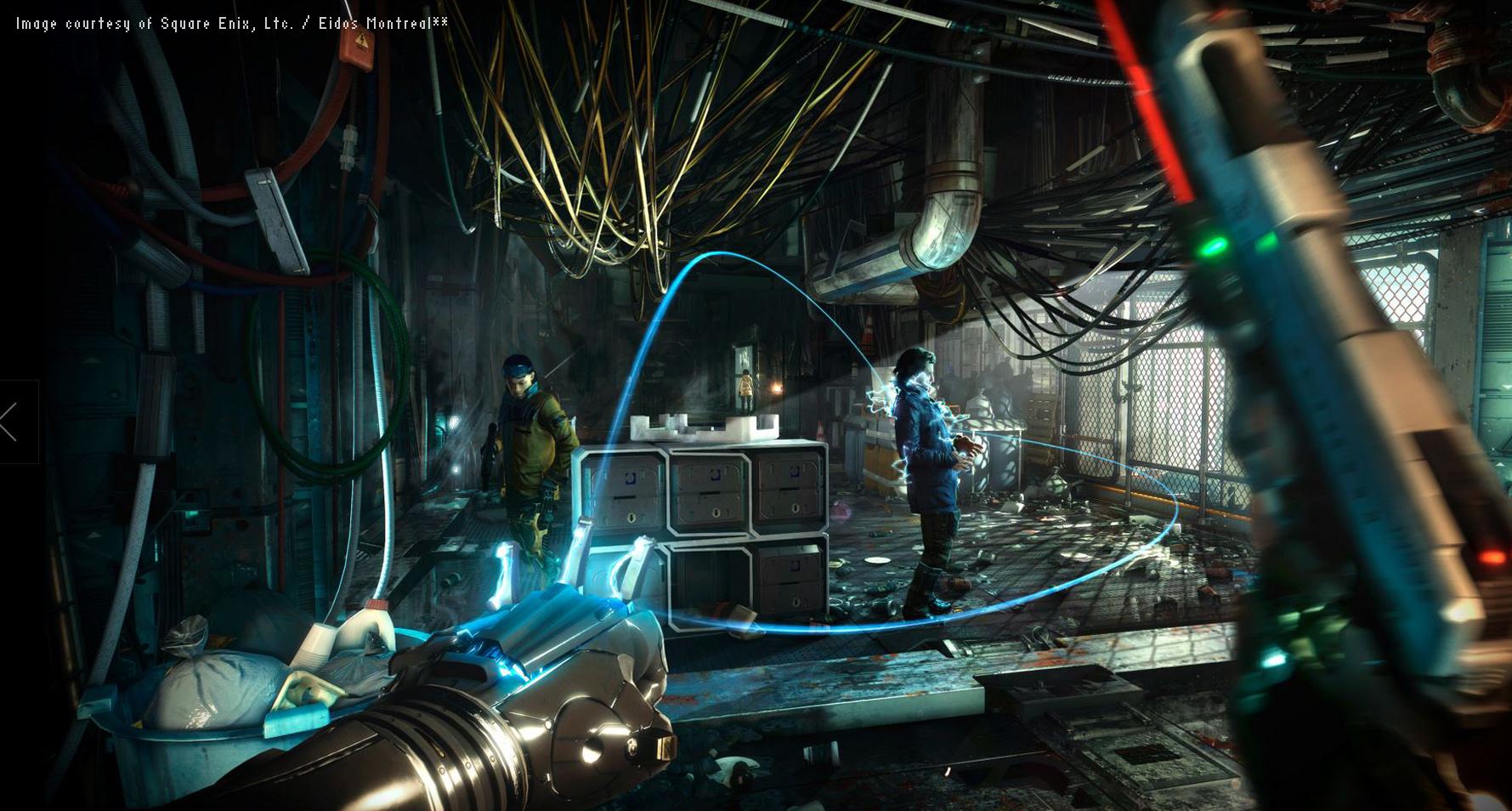 Scena z gry Deus Ex wyrenderowana w programie 3ds max