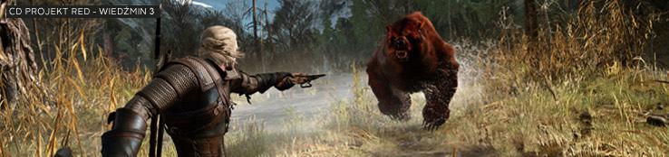 Scena z gry Wiedźmin 3 wyrenderowana w programie 3ds Max