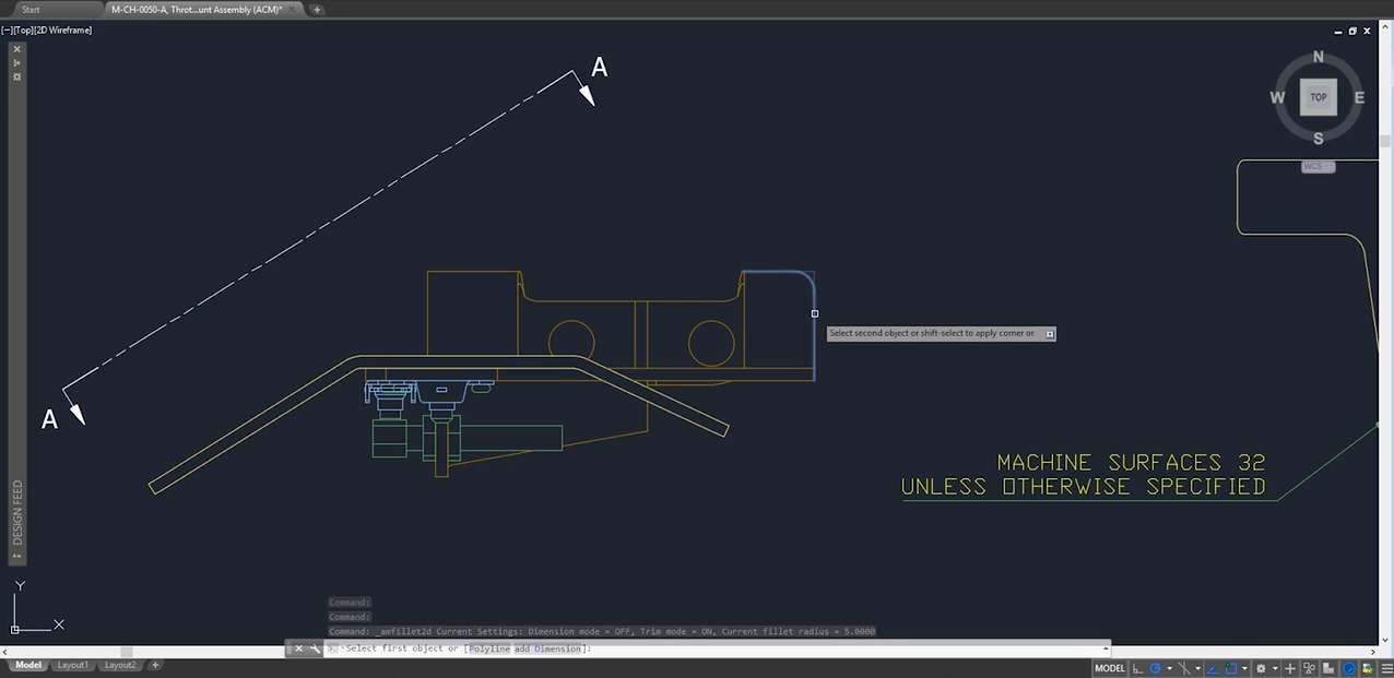 Podglądy poleceńw AutoCAD Mechanical