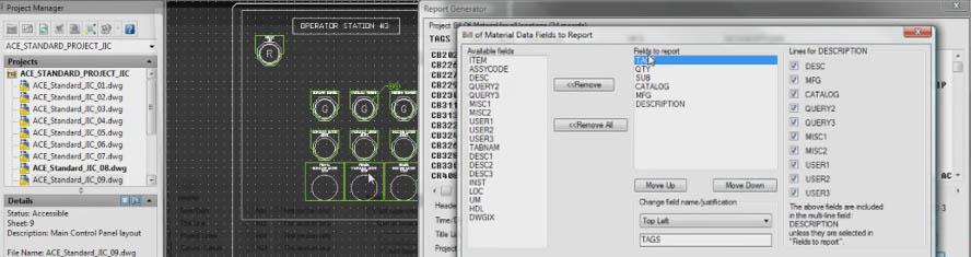 Zarządzanie danymi projektowymi w AutoCAD Electrical