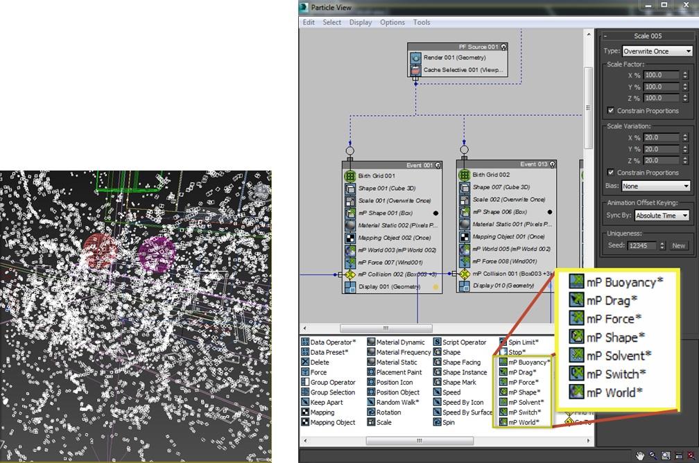 Nowości 3dsMax 2014_Particle Flow System