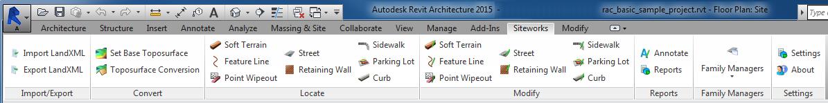 Revit_Site Designer Extension