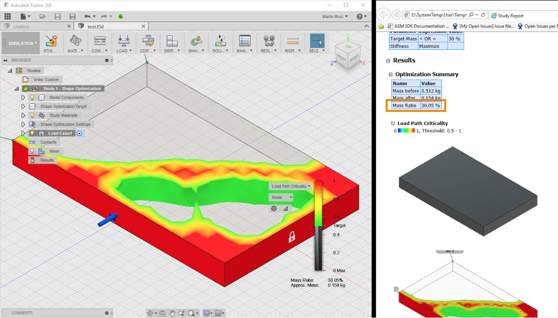 Autodesk Fusion 360 mass_ratio