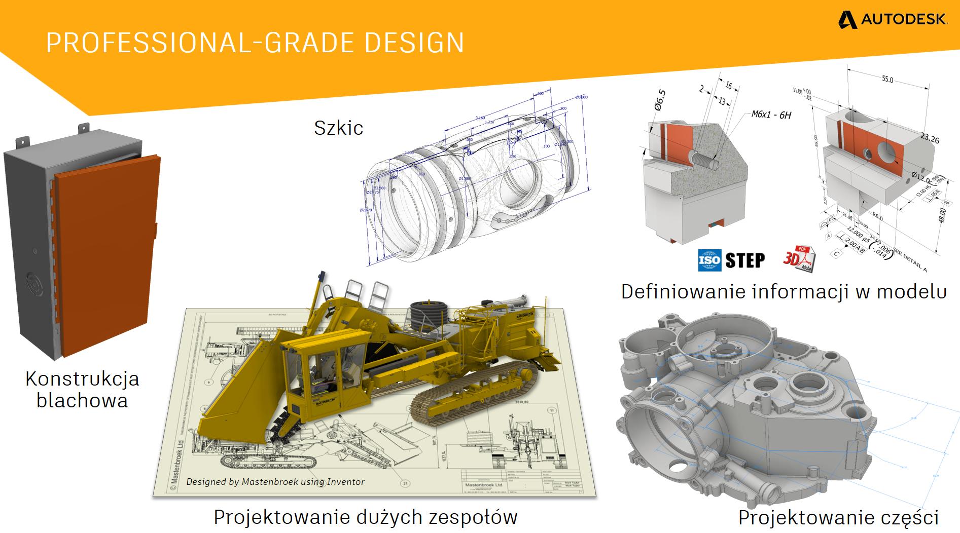 Możliwości wykorzystania Autodesk Inventor Professional