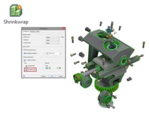 Upraszczanie geometrii modeli Autodesk Inventor Professional 2018