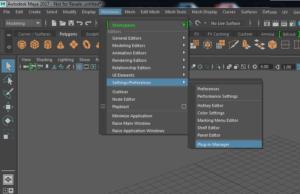 2. Autodesk Maya plugin manager