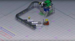Widok 2D oraz 3D Factory Design Utilities