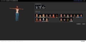 Podgląd Character Generatora w wyszukiwarce