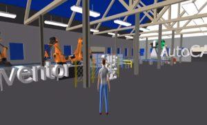 Zrzut ekranu z wizualizacji Factory Design Utilities