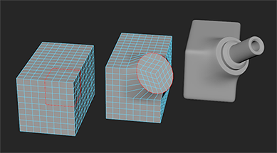 Tworzenie koła z zaznaczonych elementów i tłoczenie