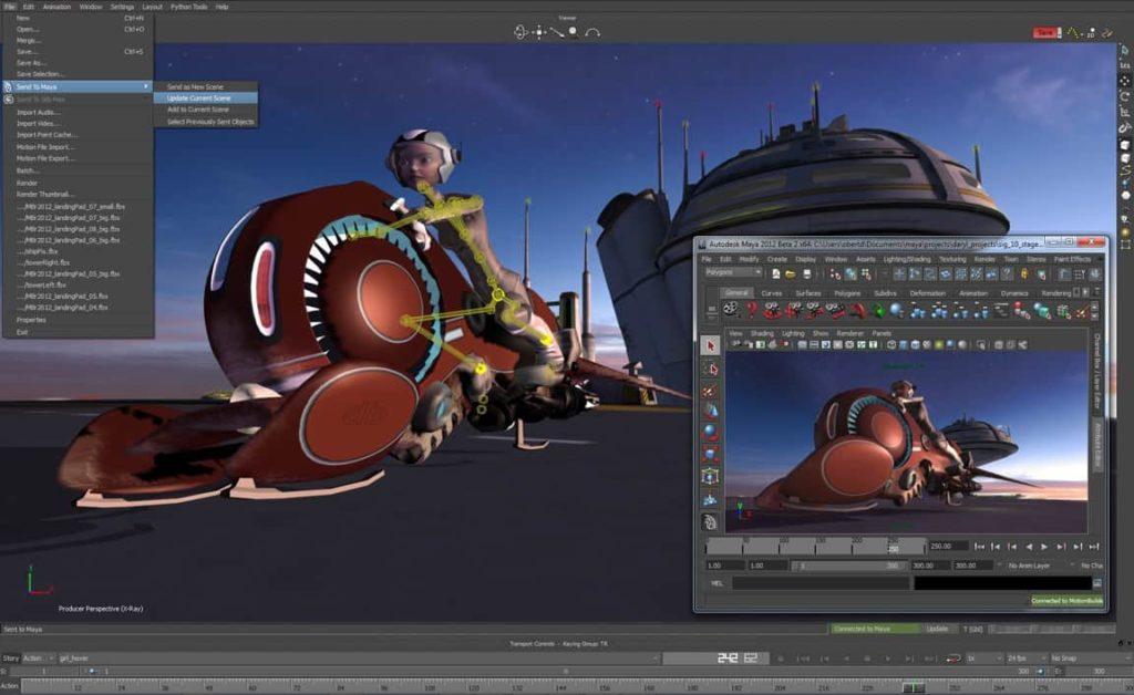 Stworzona animacja w MotionBuilder