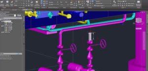 Projekt wykonany w AutoCAD Plant 3D