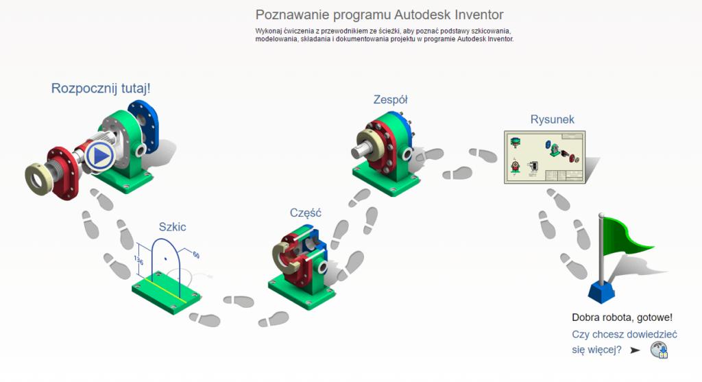 Poznawanie programu Autodesk Inventor