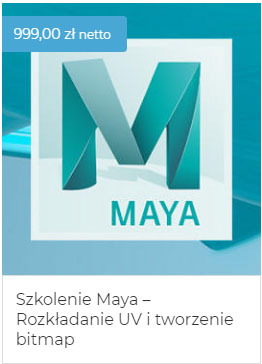 Szkolenie Maya UV i bitmapy