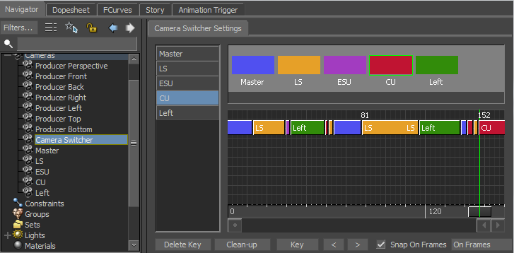 Camera Switcher w MotionBuilder