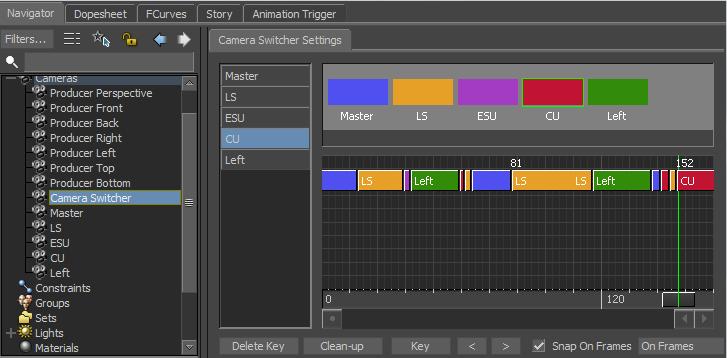Camera Switcher w MotionBuilder