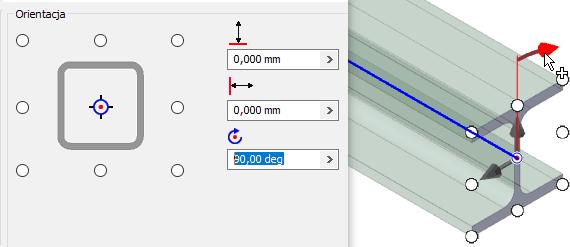 Narzędzia orientacji w obszarze rysunku w Inventor 2020