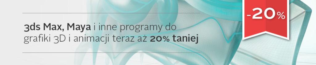 promocja 3ds Max, Maya, 20% taniej