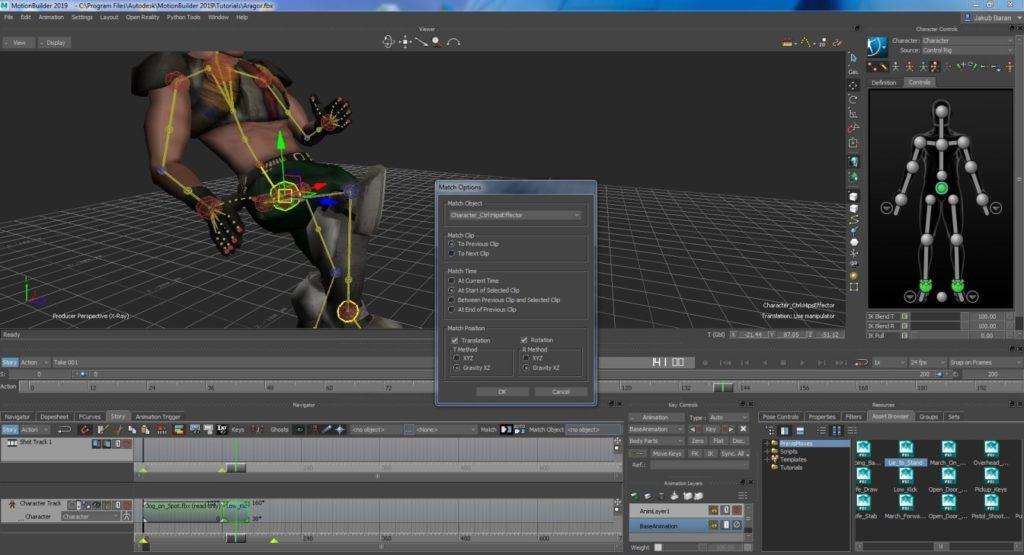 4 Blendowanie animacji w MotionBuilder