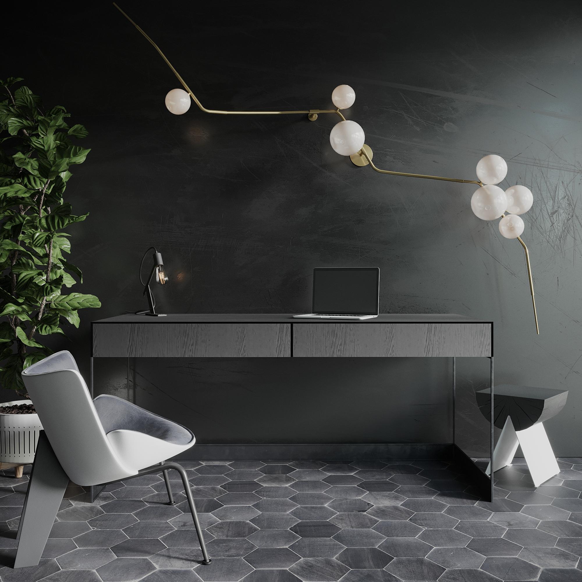 Render modelu biurka w 3ds Max