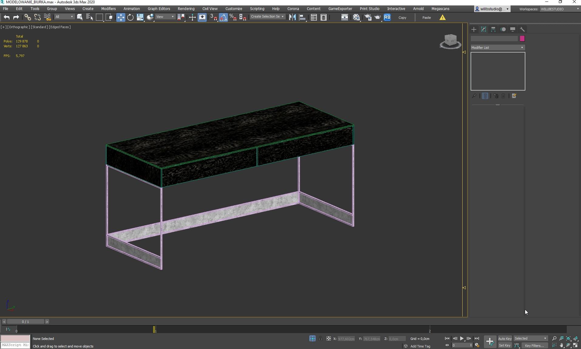 Upraszczanie modelu biurka w 3ds Max