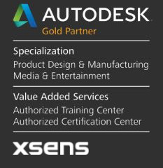 Autodesk Gold Partner and Xsens Partner
