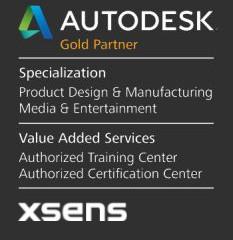 Autodesk Gold Partner and Xsens Partner