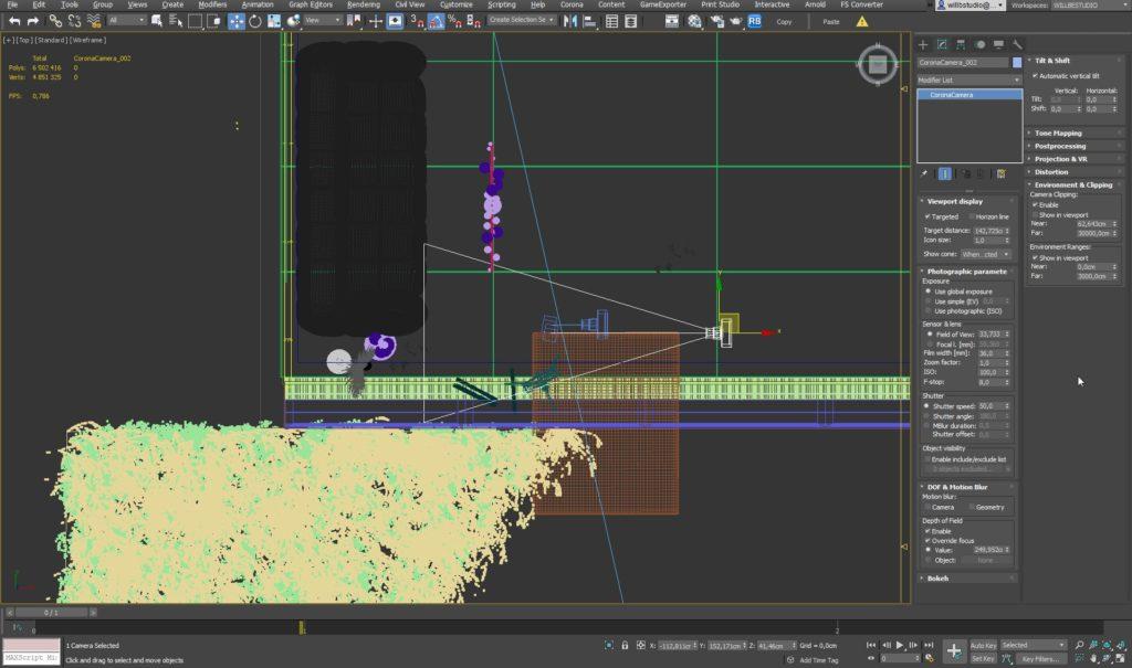 3ds Max Ustawienie kamery oraz renderowania 5
