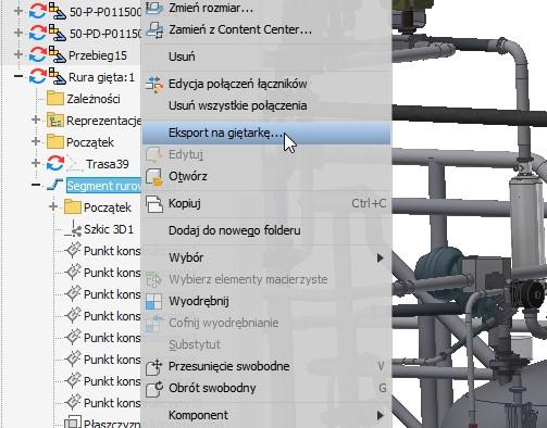 Inventor - Export danych gięcia rury 1