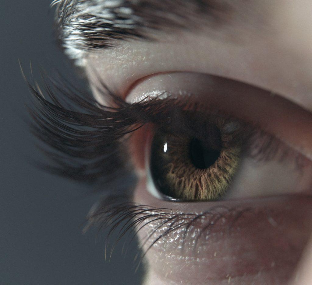 Surrealistyczny render ludzkiego oka z użyciem Arnolda