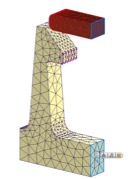 Nieliniową analizą statyczną Zatrzaski analiza MES 4