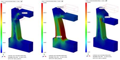 Nieliniową analizą statyczną Zatrzaski analiza MES 5