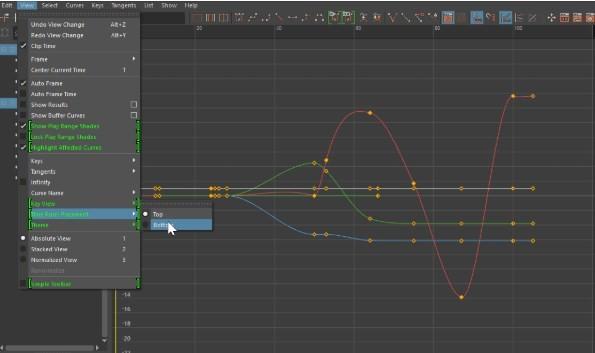 Graph editor w Maya LT 2020