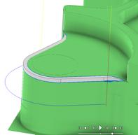 Autodesk HSM Fazowanie krawędzi Chamfer tip offset 2