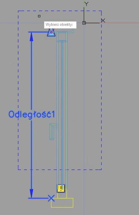 AutoCAD definiowanie rozciągnięcia 2