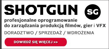 Shotgun-program do zarządzania produkcją filmów i gier