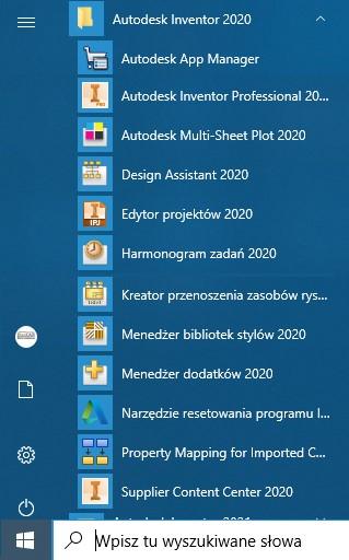 Dodatkowe narzędzia dostępne z programem Autodesk Inventor