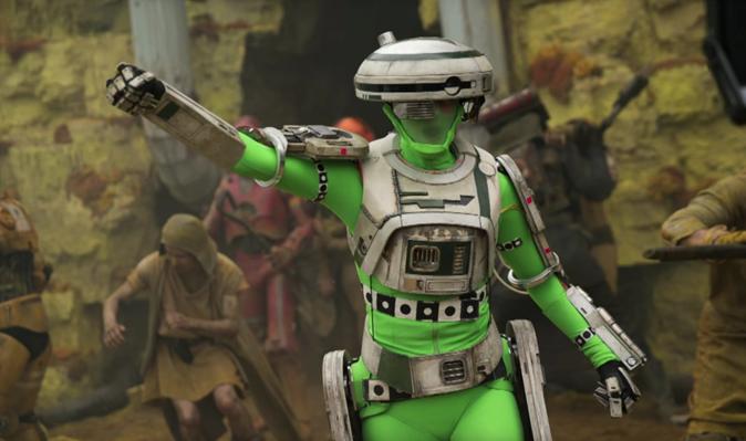 Motion capture tworzenie filmowych postaci - Star Wars L3-37