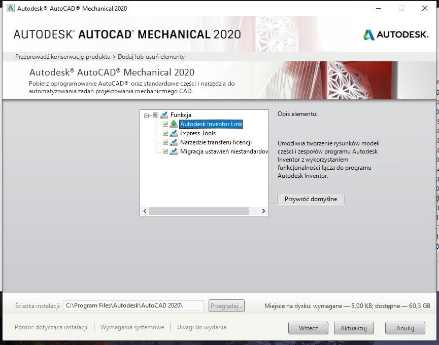 Przeniesienie modelu 3D Inventora na rysunek płaski AutoCAD 3