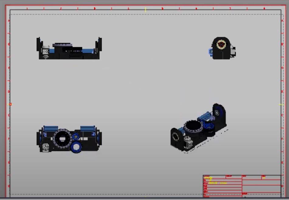 Przeniesienie modelu 3D Inventora na rysunek płaski AutoCAD 5