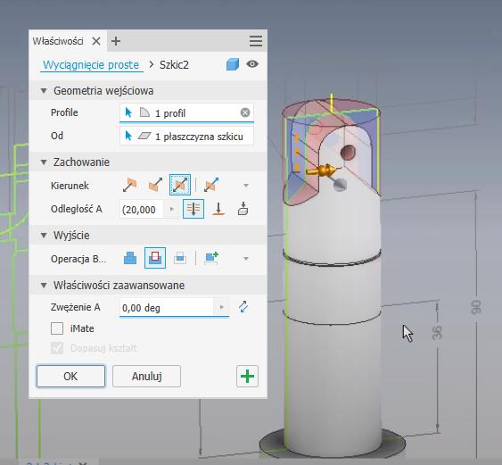 Wykorzystanie rysunku 2D do utworzenia modelu 3D 5