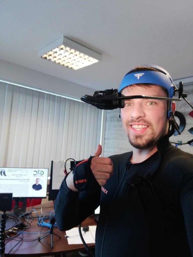 pokazy sprzętu do Motion Capture Xsens Manus VR Faceware 2