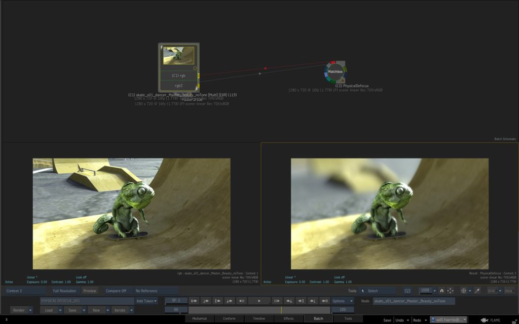 Autodesk Flame GPU-Accelerated Defocus Effect