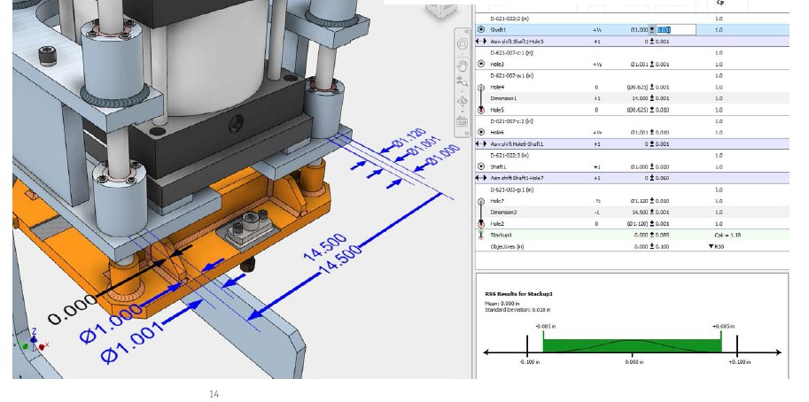 Autodesk Product Design & Manufacturing Collection dlaczego warto 3 Inventor Tolerance Analysis