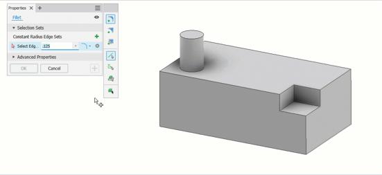 Inventor 2022 18 Modelowanie Części – zaokrąglenia