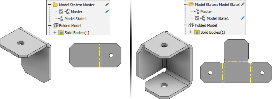 Inventor 2022 5 stany modelu