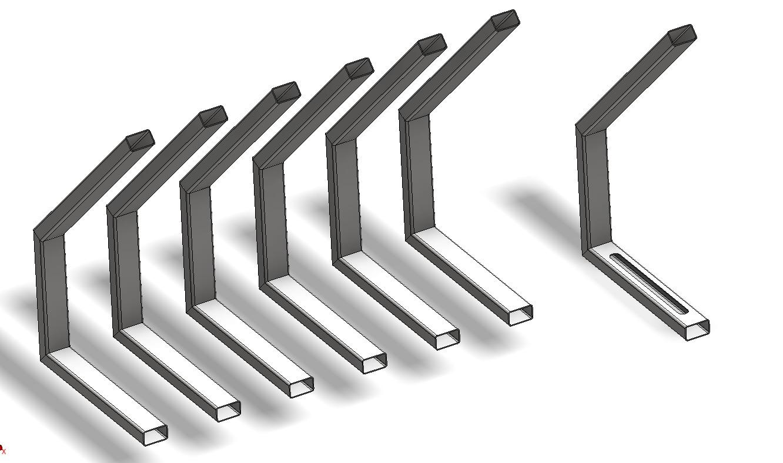 Inventor - tworzenie kopii elementów ramy